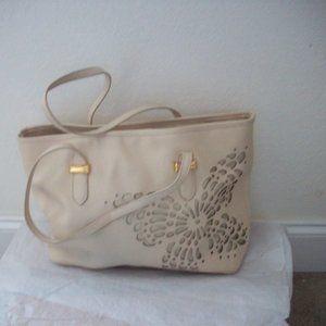 Snob Essentials Butterfly Shoulder Bag Off White